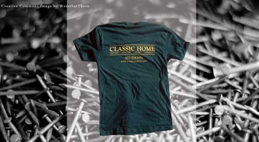 classic home vermont screen printed american apparel t-shirt