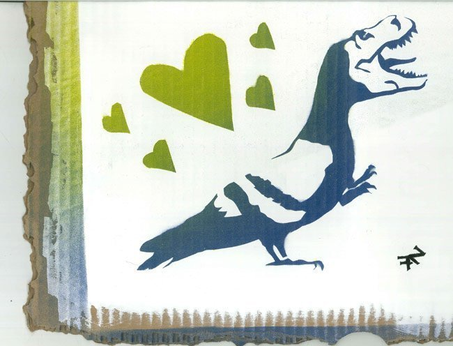 Pigeon Rex original graffiti artwork prepared for screen printed waterbased t-shirts