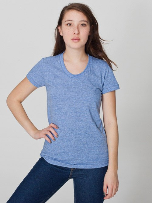 American Apparel tr301 triblend track t-shirt athletic blue