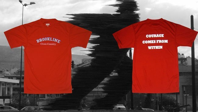 Brookline MA cross country running screen printing wicking t-shirt