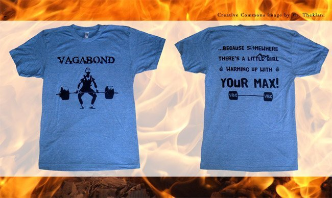 Screen printed american apparel tr401 triblend t-shirt for CrossFit Vagabond Easton MA blue