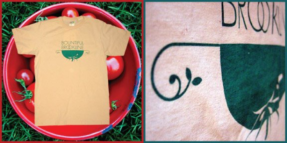 bountiful brookline waterbased ink screen printed organic natural vintage t-shirt
