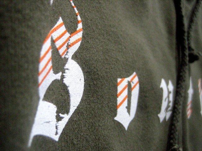 crossfit southie custom screen printed over the zipper hoodie