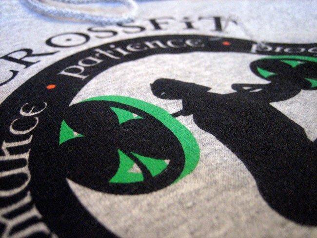 crossfit southie screen printed heavyweight hooded sweatshirt zoom