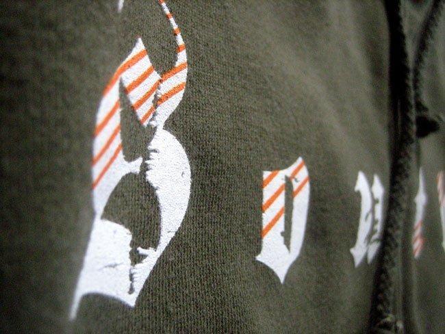 crossfit southie heavyweight zip up screen printed sweatshirt zoom