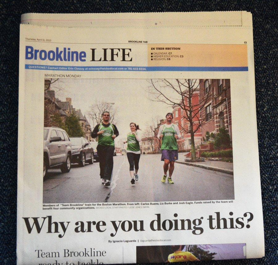 Team Brookline screen printing singlets in the Brookline Tab