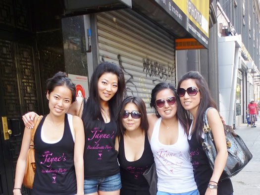 Custom American Apparel Tanks for Jayne's Bachelorette Party with Screen Printing