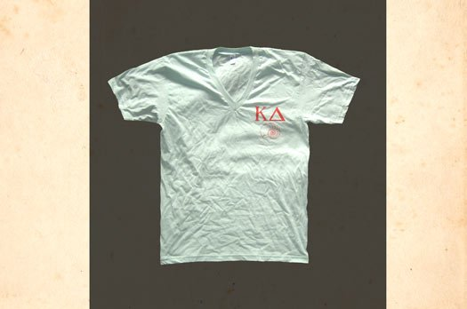 Custom American Apparel V-Neck T-Shirts for Kappa Delta Sorority with Screen Printing