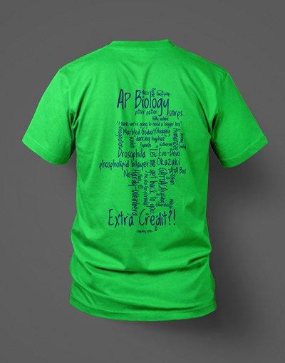 AP Biology custom screen printed t-shirt back
