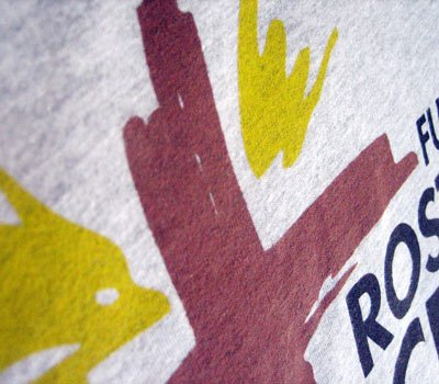 zoom-in on rostro de cristo screen print volunteer t-shirts