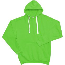 super bright neon neon hoody for a standout custom screen print design green