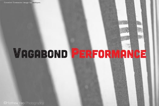 vagabond performance logo branding
