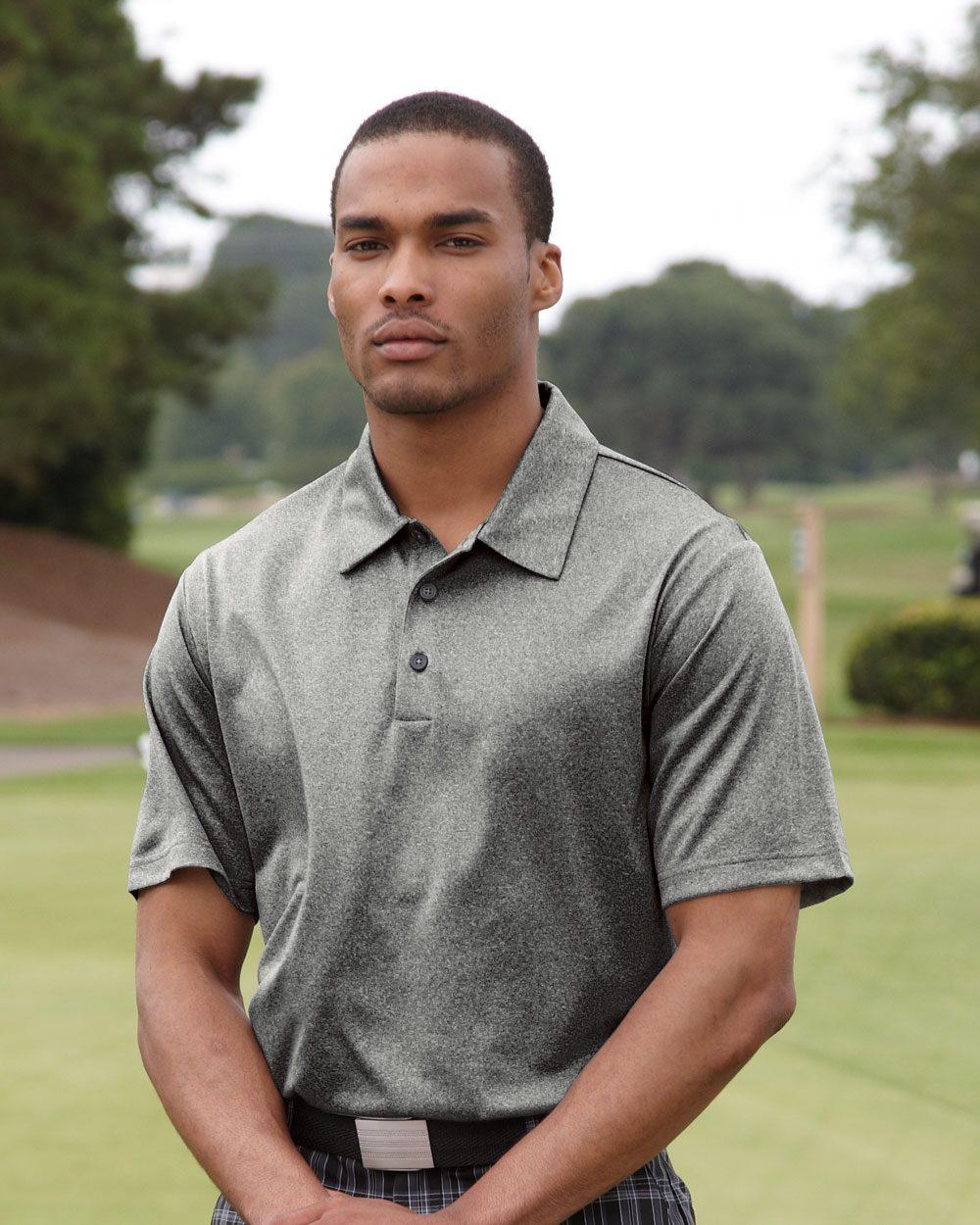 adidas golf climalite heathered performance polo