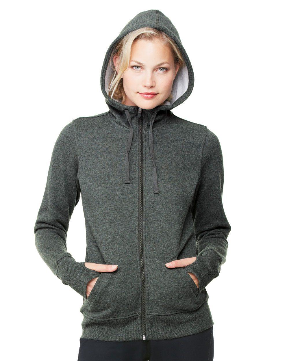 alo ladies performance fleece zip
