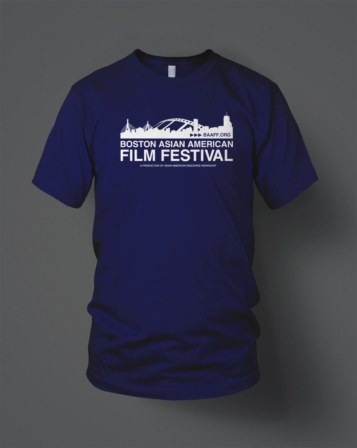 boston asian american film festival custom screen printed t-shirts
