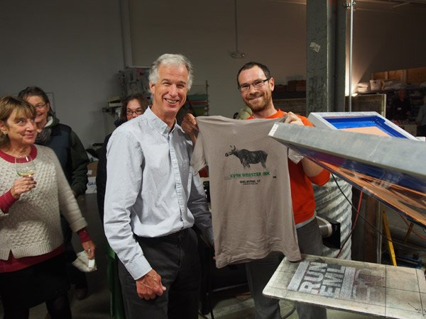shelburne vermont screen printing evan webster ink open studio moose