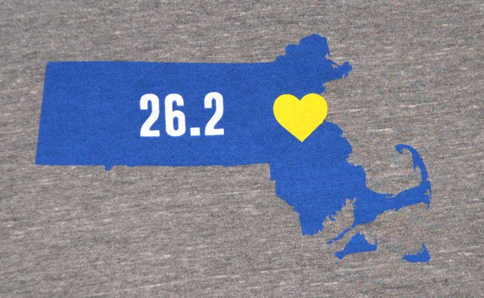 screen printed triblend t-shirts boston marathon fundraiser zoom