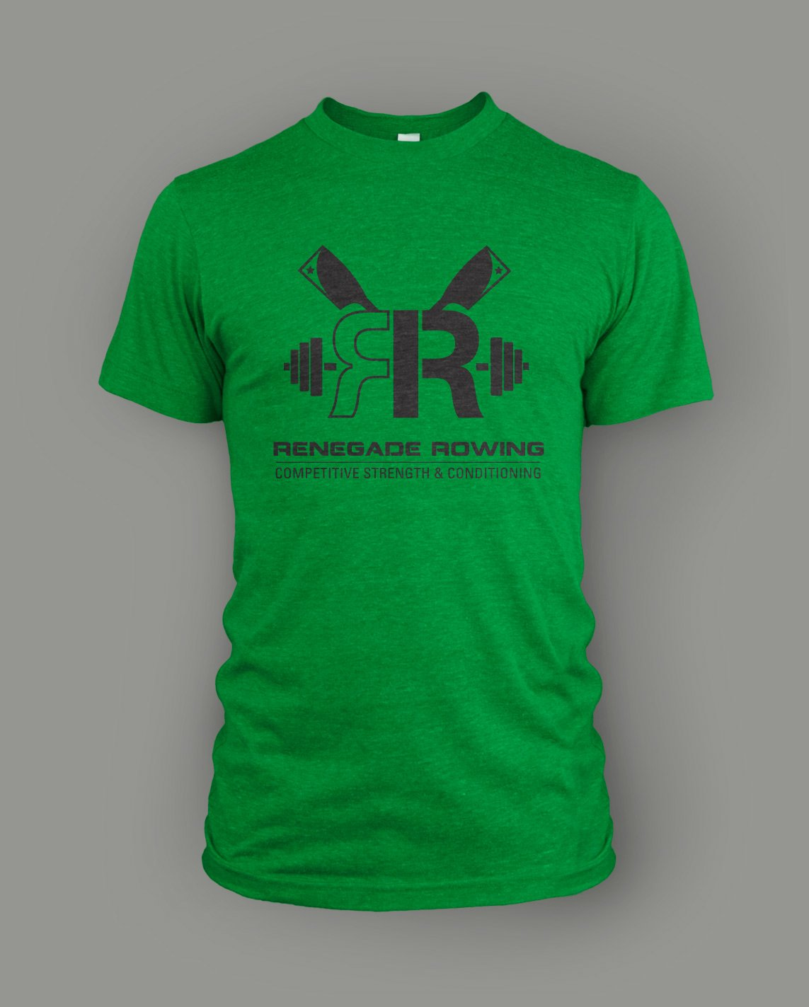 renegade rowing screen printed triblend t-shirt