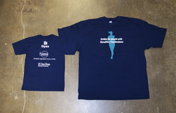 dyax screen printed pharmaceutical t-shirts